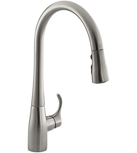 KOHLER K-596-VS Simplice Kitchen Faucet, Vibrant Stainless