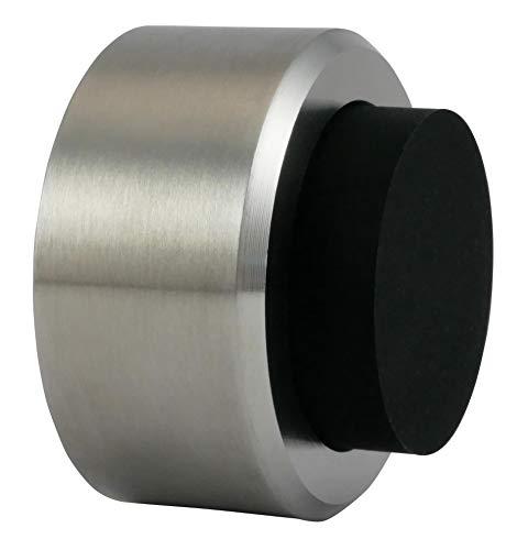 Naths Hardware® Türstopper für die Wand aus Edelstahl mit Gummi Puffer, inklusive Schraube und Dübel zur Montage