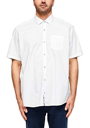 S.Oliver Big Size 131.10.004.11.120.2042574 Camisa, 0100 White, XXXXL para Hombre