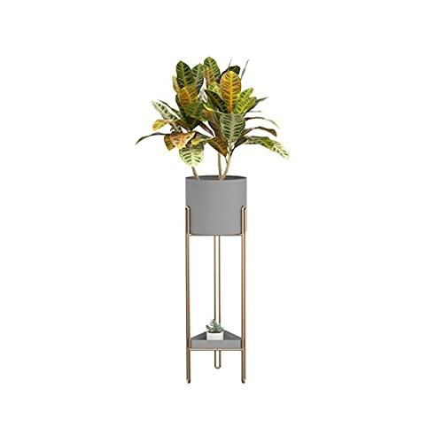 Lpgg-ZZ Soporte para Plantas de Metal, Soporte para macetas para Interiores y Exteriores, Soporte para exhibición de Plantas Elevado Adecuado para Porche de Esquina (Color : Gray)