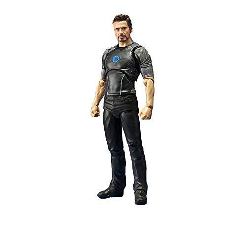YXCC Iron Man Actionfigur Tony Stark Aktionskarte Bewegliche Puppendekoration