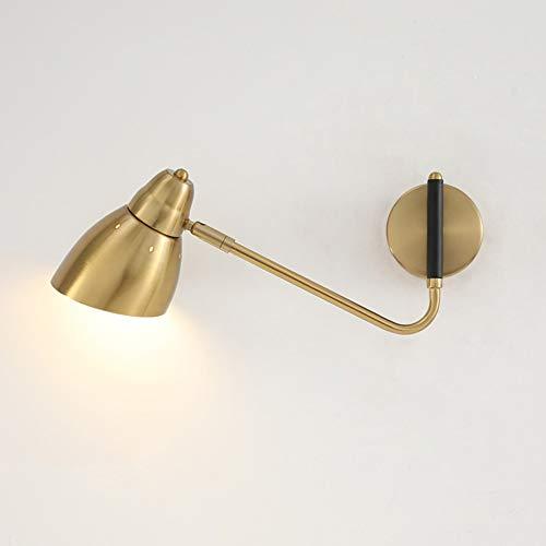 Luz de pared de escoce de la cama minimalista El dormitorio es moderno lámpara de pared El brazo giratorio de hierro se puede ajustar la iluminación de la pared de la pared de la lámpara de pintura ae