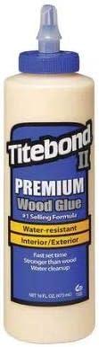 Titebond 5004 II Premium Wood Glue, 16-Ounces - 2 Pack
