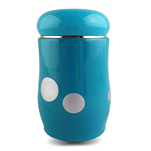 Water Bottle Insulated Stainless Steel Reusable Mini Cute Thermos Business Water Bottle 300Ml/10Oz Sports Keeps Hot and Cold Leakproof Lids Outdoor,Blue