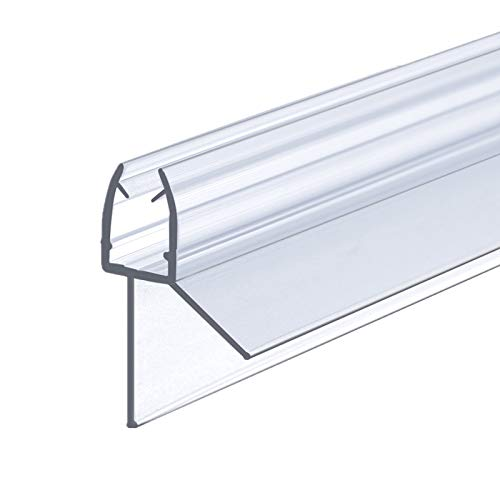 IMPTS Dichtung Dusche, 100cm, Ersatzdichtung für 5mm 6mm Glastür Stärken, Duschkabine Wasserabweiser Duschdichtung Schwallschutz Dichtkeder - Transparent