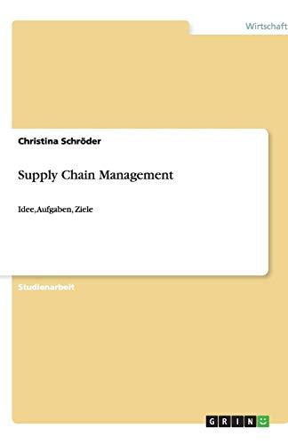 Supply Chain Management: Idee, Aufgaben, Ziele