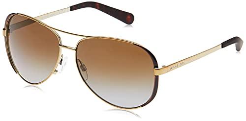 Michael Kors 0MK5004 Gafas, Gold/Dk Chocolate 1014t5, 59 Unisex-Adulto