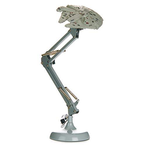 Paladone Millennium Falcon Posable Star Wars Schreibtischlampe | Geschenk für alle Altersgruppen, grau
