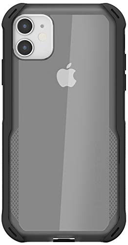 Ghostek Cloak Clear Grip iPhone 11 Case with Slim Fit Super Shock Absorbing Bumper Shockproof Heavy Duty Protection and Wireless Charging Compatible Phone Cover for 2019 iPhone 11 (6.1 Inch) - (Black)