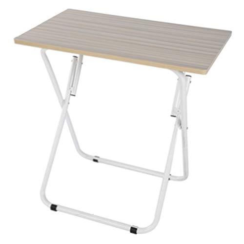 Tables de pique-nique Table Installation Facile Espace Bureau Bureau Pliant Simple Bureau Table Pliante Ménage Petite Table pour Ordinateur Portable (Color : Brown, Size : 70 * 52 * 70cm)