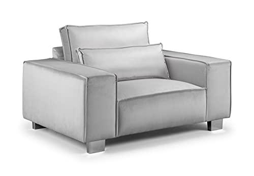 Honeypot - Sofa – Sloane – Ecke – Große Ecke – 4-Sitzer – Sessel – Fußhocker – Silber – Schiefer (Sessel, Silber).