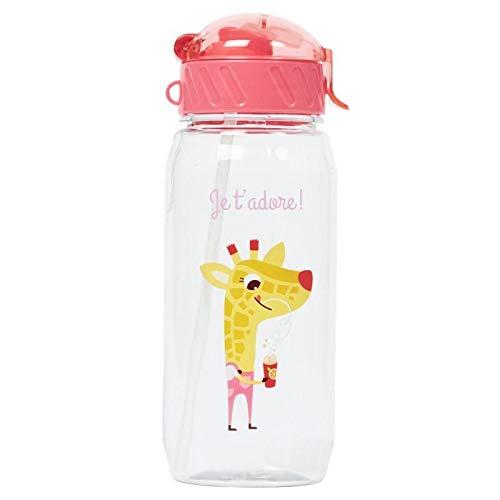 Draeger – Botella para niños con pajita – Botella reutilizable – Botella de agua para niños – Sin BPA – apta para lavavajillas