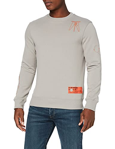 G-STAR RAW Object Graphic Sudadera, Charcoal A613-942, XL para Hombre
