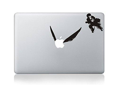 Decalcomania, in vinile, per logo Apple, con Harry Potter che insegue il boccino d'oro, per MacBook Pro/Air, 33cm