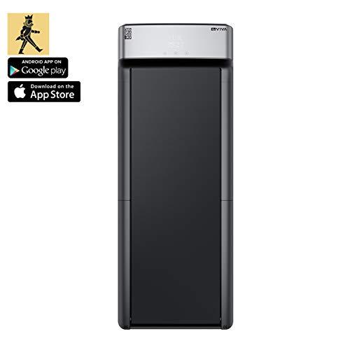 AsVIVA Laufband T25 Bluetooth extrem Compact Runner, Touchscreen Computer & Fernbedienung, 1,5PS energieeffizienter Motor bis zu 6km/h, leise im Betrieb, sehr flach 12,9cm hoch, kompakt klappbar