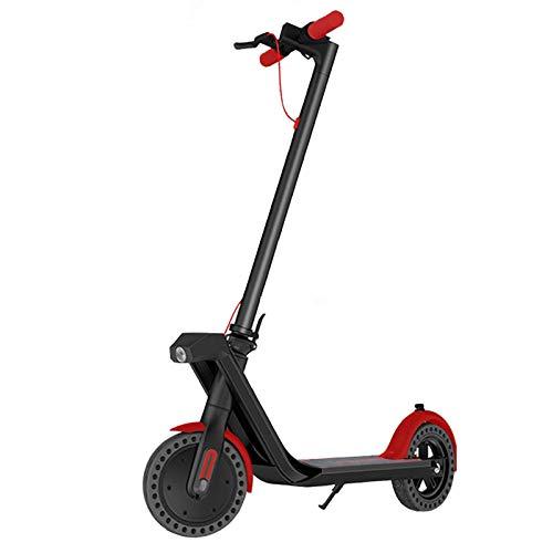 Patinete Eléctrico Altura 800W Scooter Eléctrico Adulto Scooter Eléctrico Plegable 2 Modos De Velocidad Control De Aplicaciones 9 Pulgadas Rueda LCD Pantalla Al Aire Libre Escotera, (Color:Rojo negro)
