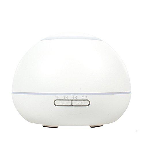 GX Diffuser Ätherische Öl Aromatherapie Diffusor Ultraschall Aroma Luftbefeuchter Duft Luftreiniger mit 7 Farben Nachtlicht und Timer Weiss