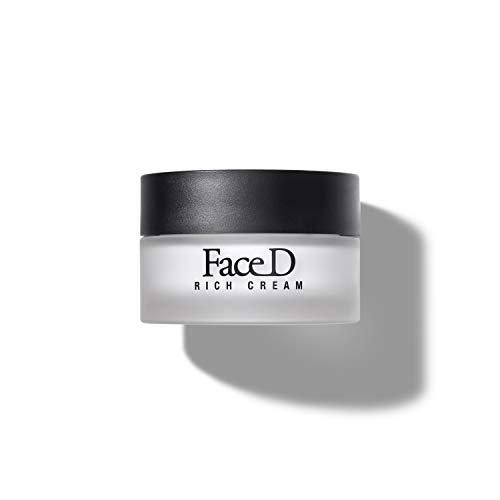 FaceD - Instant Rich, Crema Viso e Collo Anti-età con Acido Ialuronico e Vitamina E, 50 ml