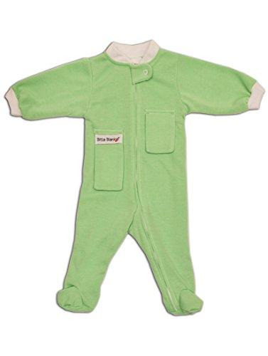 Bitta Kidda Baby Soother Baby Creeper Zipper Sleeper, Baby Pajamas with Footies + Lovey - Green 6 Months