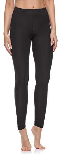 Merry Style Damen Lange Leggings aus Baumwolle MS10-198 (Schwarz, L)