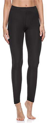 Merry Style Damen Lange Leggings aus Baumwolle MS10-198 (Schwarz, S)