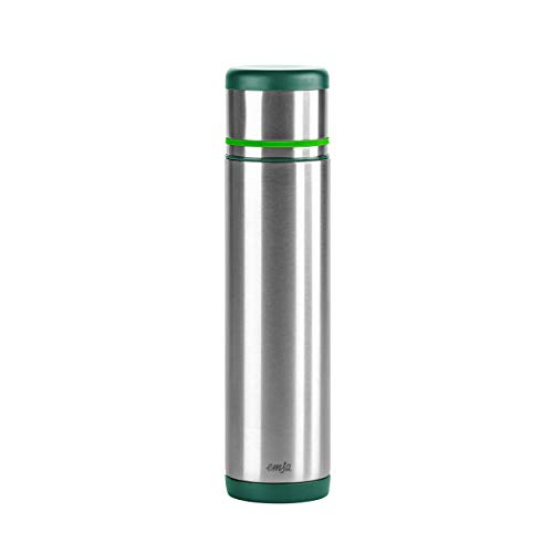 Emsa 512960 Isolierflasche, Mobil genießen, 700 ml, Safe Loc Pro Verschluss, Grün-Hellgrün, Mobility