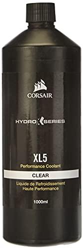 Corsair Hydro X Series, XL5 Refrigerante de rendimiento, 1 l (Color translúcido brillante, Duradero Premezclado Rendimiento,...