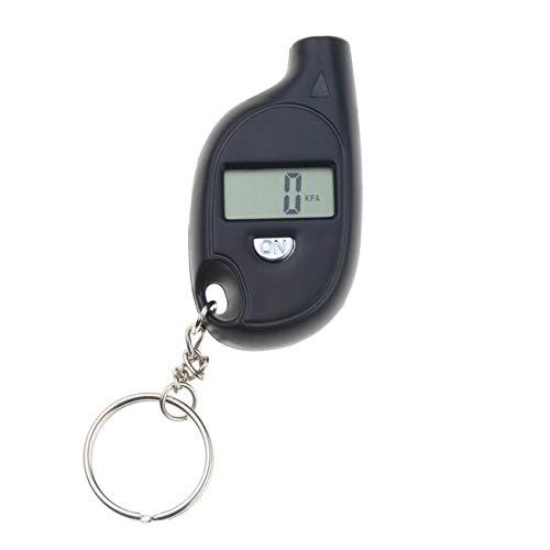 Ashley GAO Mini medidor de presión de neumáticos, pantalla LCD digital, medidor de presión de aire de neumáticos de coche, motocicleta, medidor de presión de neumáticos