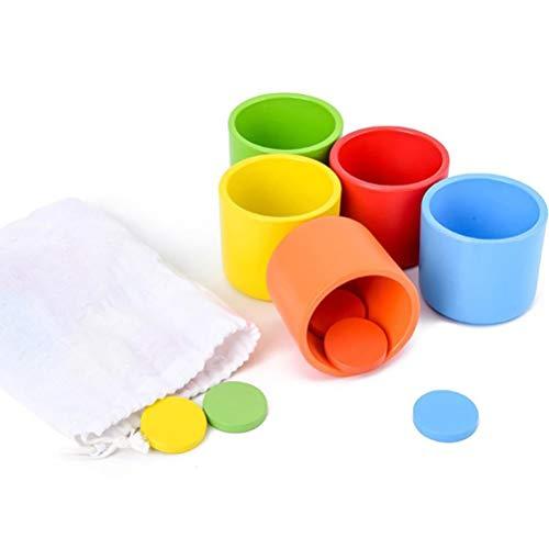Dan&Dre Coincidencia de Clasificación Copas de Reconocimiento de Color Juguetes Educativos Clasificación y Conteo Juguete de Aprendizaje de Color para Niños