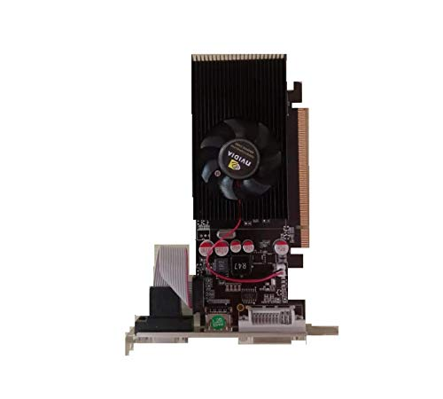 NIUPAN Die GT210 1G DDR2 PCI-E Dual-Screen erweiterte Überwachung Grafikkarte Dual VGA plus HDMI kleines Gehäuse.