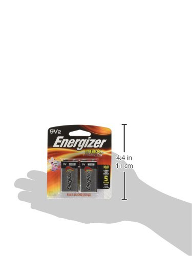 Energizer Max 9V Batteries, Premium Alkaline 9 Volt Batteries (2 Battery Count)