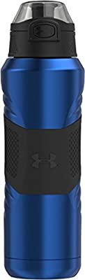 Under Armour Dominate 24 Ounce Vacuum Insulated Stainless Steel Bottle with Flip Top Lid, Royal Blue
