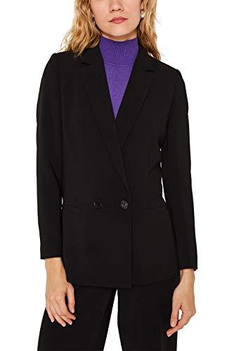 Esprit 119eo1g021 Chaqueta de Traje, Negro (Black 001), 34 (Talla del Fabricante: 32) para Mujer
