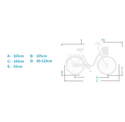 Folding Bikes S.N S Bicycle Women's Lightweight Adult City Student Commuter Car 26 Inch Single Speed
