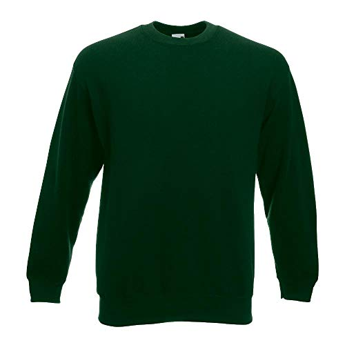 Fruit of the Loom - Sweatshirt 'Set-In' L,Bottle Green