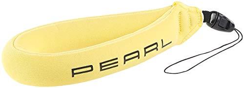 PEARL Trageschlaufe: Schwimmende Handschlaufe für Unterwasser-Kamera u.v.m, gelb (Unterwasser-Trageschlaufe)