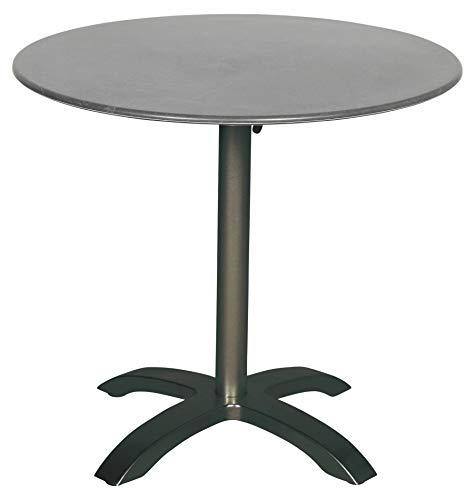 acamp Esstisch Gartentisch Bistrotisch acaplan 80 cm rund anthrazit Schiefer Tischplatte extrem dünn und super stabil