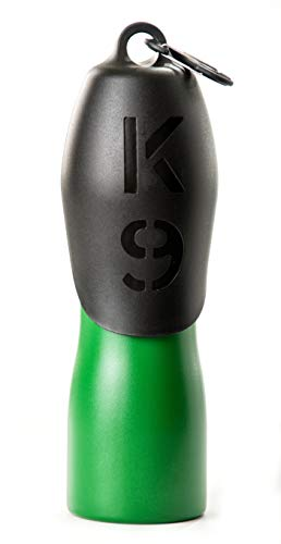 H2O4K9 Stainless Steel K9 Water Bottle (25oz, Matte Green)