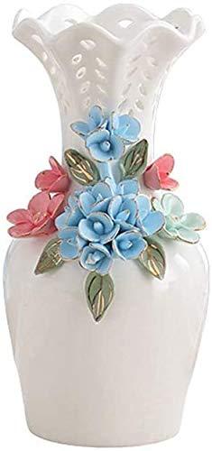 Three-dimensional Decorative Vase, White Ceramic Vase Bookcase Cabinet Decorative Vase Multifunction Table Floristry Vase Decorative ornaments (Size : 10 * 22CM) JoinBuy.R
