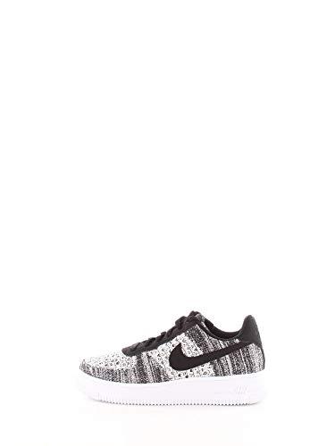 Nike Air Force 1 Flyknit 2.0 (GS), Scarpe da Basket Uomo, Multicolore (Black/Pure Platinum/White/White 1), 36 EU