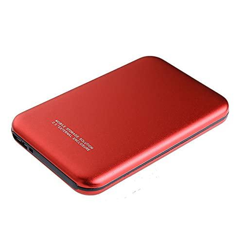 KOIJWWF Drive Mobile Drive HDD Portátil SSD Estado sólido Driver 1 / 2TB Almacenamiento de la Unidad de Estado sólido USB3.0 Externo para computadora portátil,Rojo,2TB