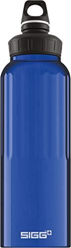 SIGG WMB Traveller Dark Blue Trinkflasche (1.5 L), schadstofffreie und auslaufsichere Trinkflasche, federleichte Trinkflasche aus Aluminium