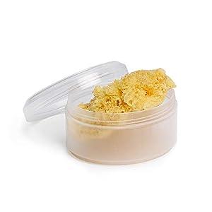 Suavinex Esponja Natural del Mar Pequeña Ideal para Recién Nacido con Caja para Guardar, Amarillo