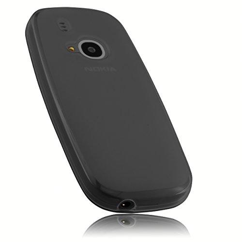 mumbi Hülle kompatibel mit Nokia 3310 Handy Hülle Handyhülle, transparent schwarz