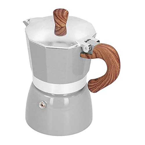 Jopwkuin Moka Pot, Cafetera Octogonal Fácil De Operar Cafetera Moka para Amantes del Café para Oficina(Seiko Plata)