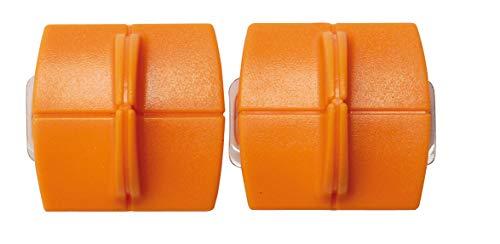 Original Fiskars Ersatzklingen für Papierschneidemaschinen, 2 Stück, Für gerade Schnitte, High Profile TripleTrack Titanium, Orange, 1004677