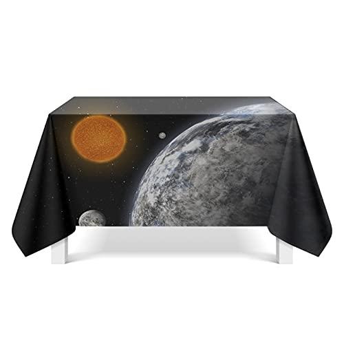 YDyun Mantel Antimanchas de Algodón y Lino Mantel para Mesa Resistente al Aceite Impresión Estrella Creativa