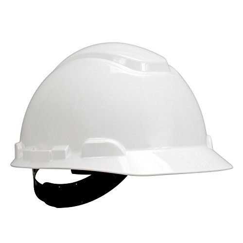 3M 10078371641877 H-701P White Hard Hat with 4-Point Pin Lock Suspension, White