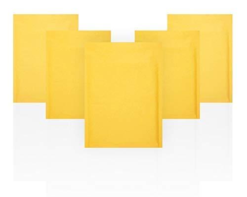 Amiff Kraft Bubble Mailers 10.5 x 15 Padded Envelopes 10 1/2 x 15. Pack of 20 Kraft Paper Cushion Envelopes. Exterior Size 11.5 x 15.5. Peel & Seal.