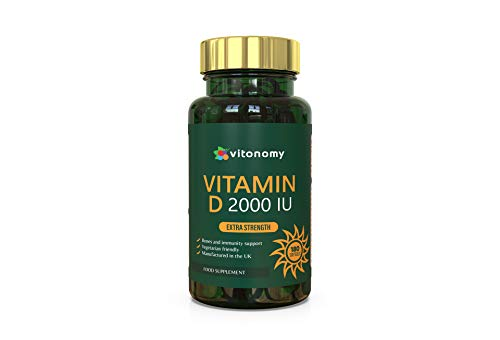 Vitamin D3 2000iu | 180 Vegetarian Softgel Capsules | High Strength | 100% Natural Ingredients | Cholecalciferol | Made in UK | Immune System Support | Easy to Swallow Vitamin D | 6 Month Supply